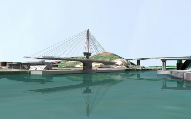 Puente Giratorio de Lutxana. Arenas y Asocias.