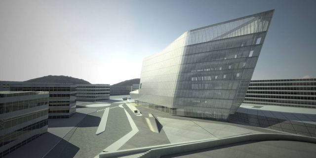 EuskoTren Headquarters by Zaha Hadid