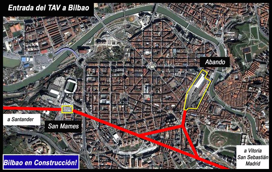 Gráfico entrada TAV a Bilbao por AdemA