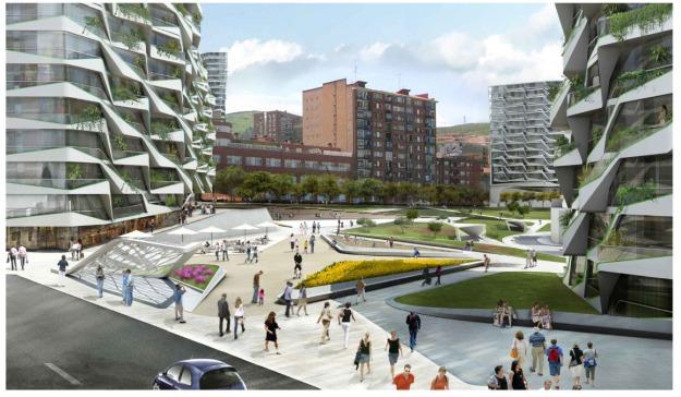 Masterplan Bidebieta Pozokoetxe y San Fausto Bilbao Ria 2000 UNStudio