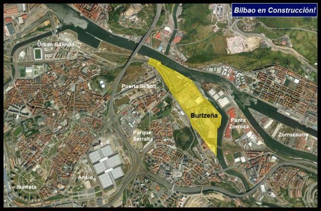 Ubicación Burtzeña Bilbao en Construcción! Google Earth.
