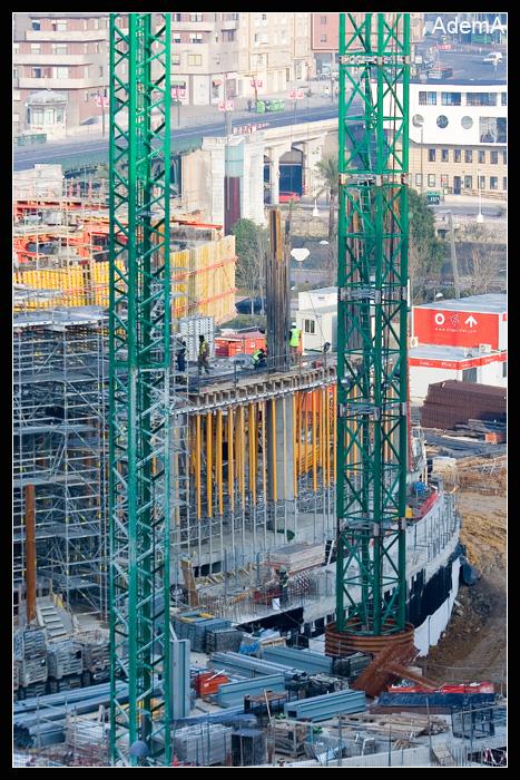 Obras 20 febrero 09, Torre Iberdrola. AdemA