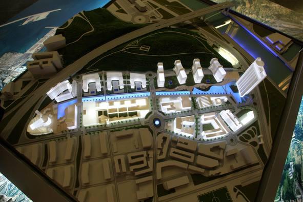 Maqueta PuertaBilbao El Correo