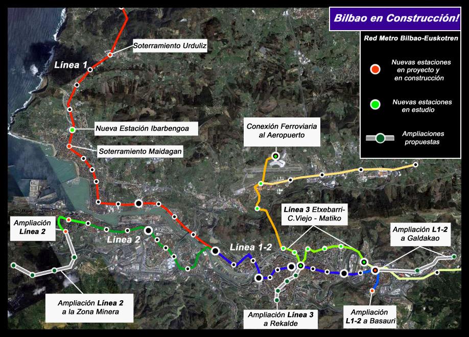 Gráfico Metro Bilbao AdemA