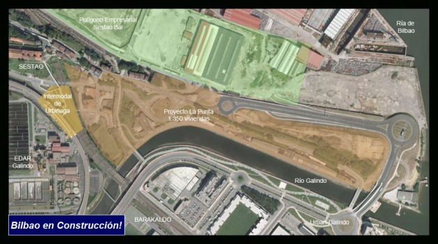 Google Earth Intermodal de Urbinaga AdemA, Bilbao en Construcción!
