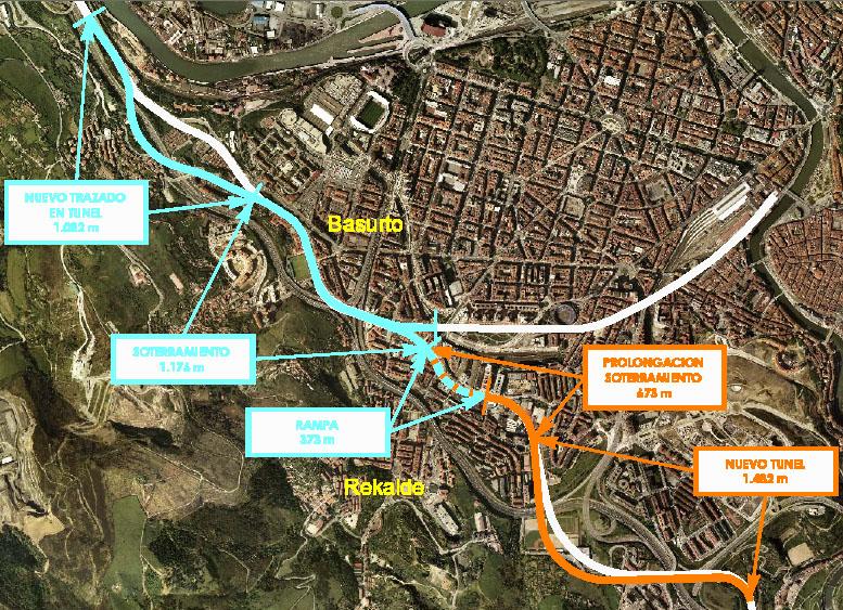 Satélite Soterramiento FEVE Bilbao Ría 2000