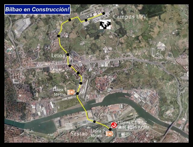 Gráfico Tranvía UPV-Sestao Bilbao en Construcción!