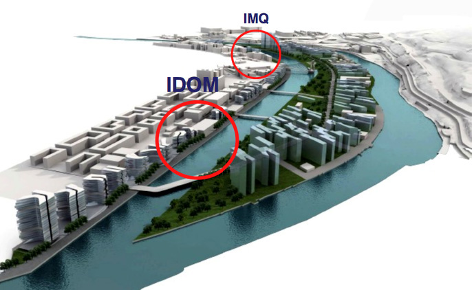 Ubicación IMQ y Sede Idom Ayuntamiento Bilbao