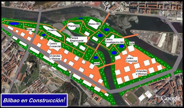 Propuesta AdemA Bilbao en Construcción Google Earth Zorroza Burtzeña