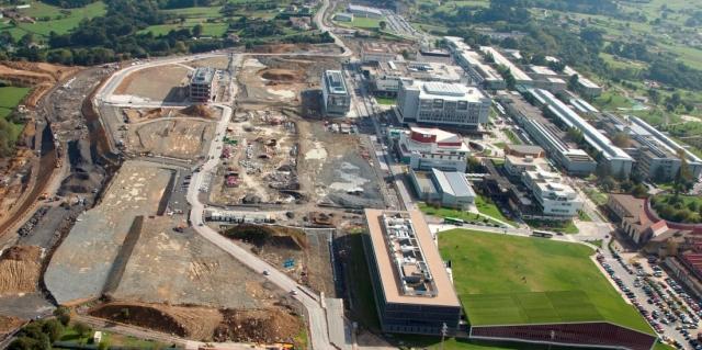 Imagen aérea del Parque Científico de la UPV/EHU.Fuente: Irekia