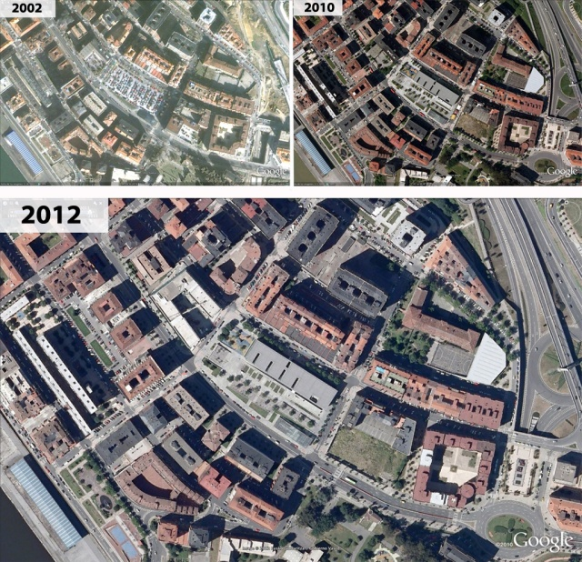 Evolución de los trabajos en Sarriko de 2002 a 2012