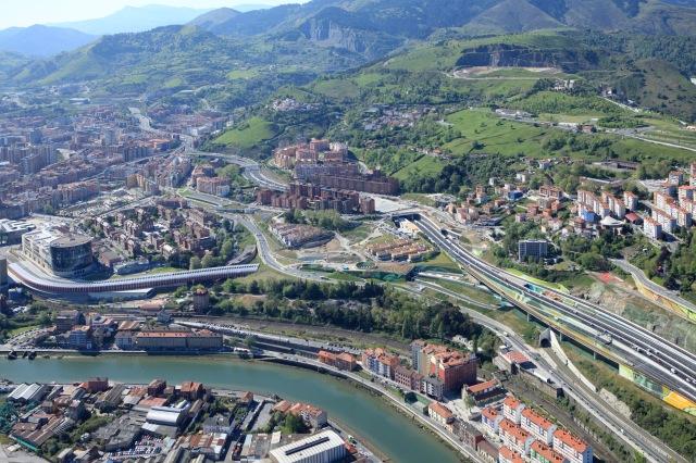 Vista Aérea de los Accesos por San Mamés. Bizkaia.net