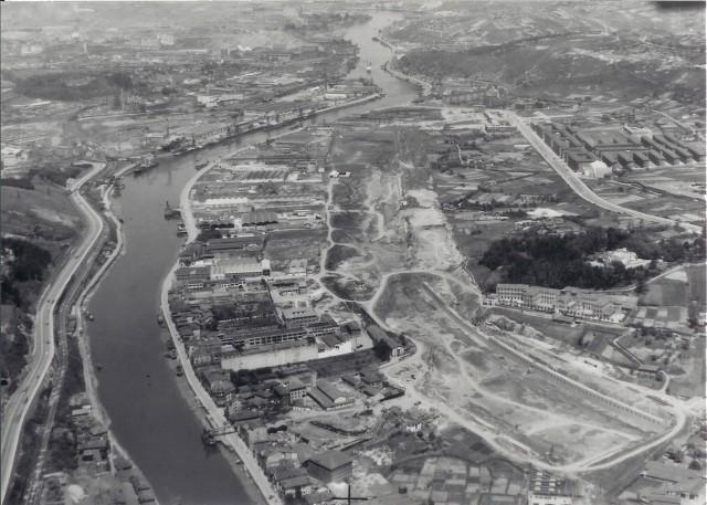 Construcción del Canal de Deusto, 1960 Zorrotzaurre.com
