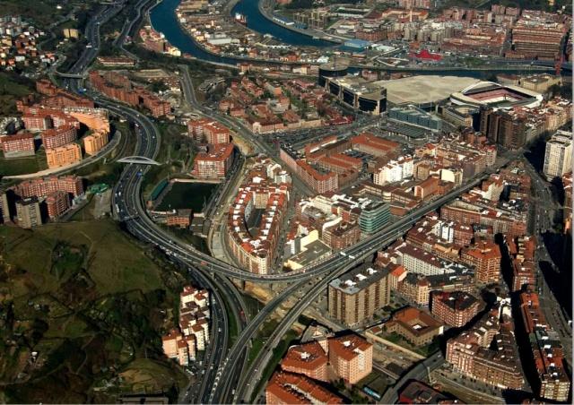 Vista Aérea de Sabino Arana en 2008. Bilbao.net