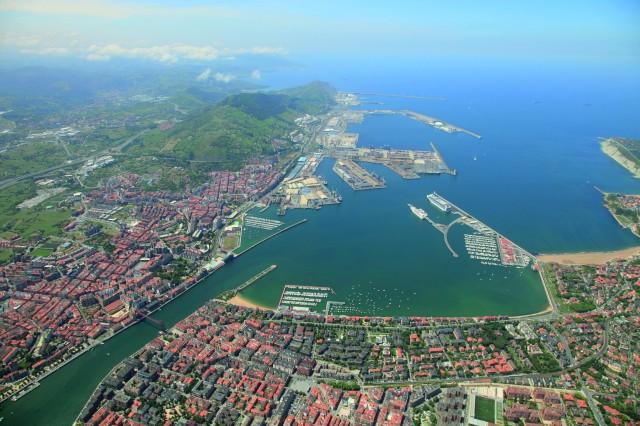Vista actual del Puerto de Bilbao Fuente: APB