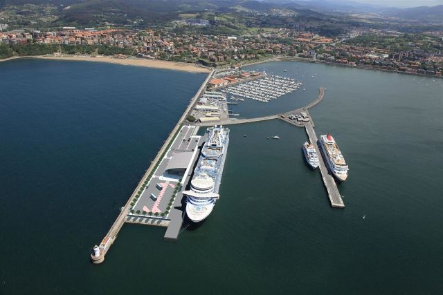 Vista de la Futura Terminal de Cruceros de Bilbao Fuente: APB
