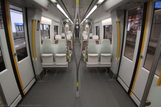 Interior Unidad UT 900 CAF, Línea 3 de metro de Euskotren. borjagmezfotografia.com